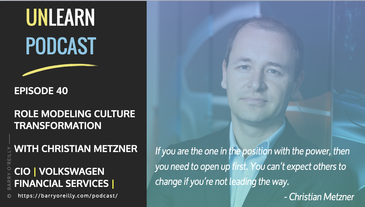 Role Modeling Culture Transformation with Christian Metzner